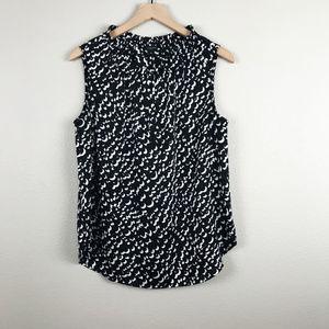 Ann Taylor | Black & White Sleeveless Blouse sz 10